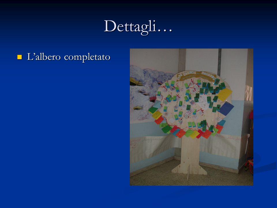 Dettagli… Lalbero completato Lalbero completato