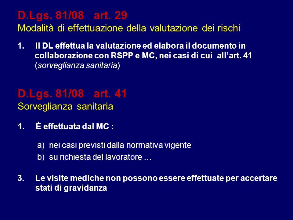 D.Lgs. 81/08 art. 29 Modalità di effettuazione della valutazione dei rischi 1.