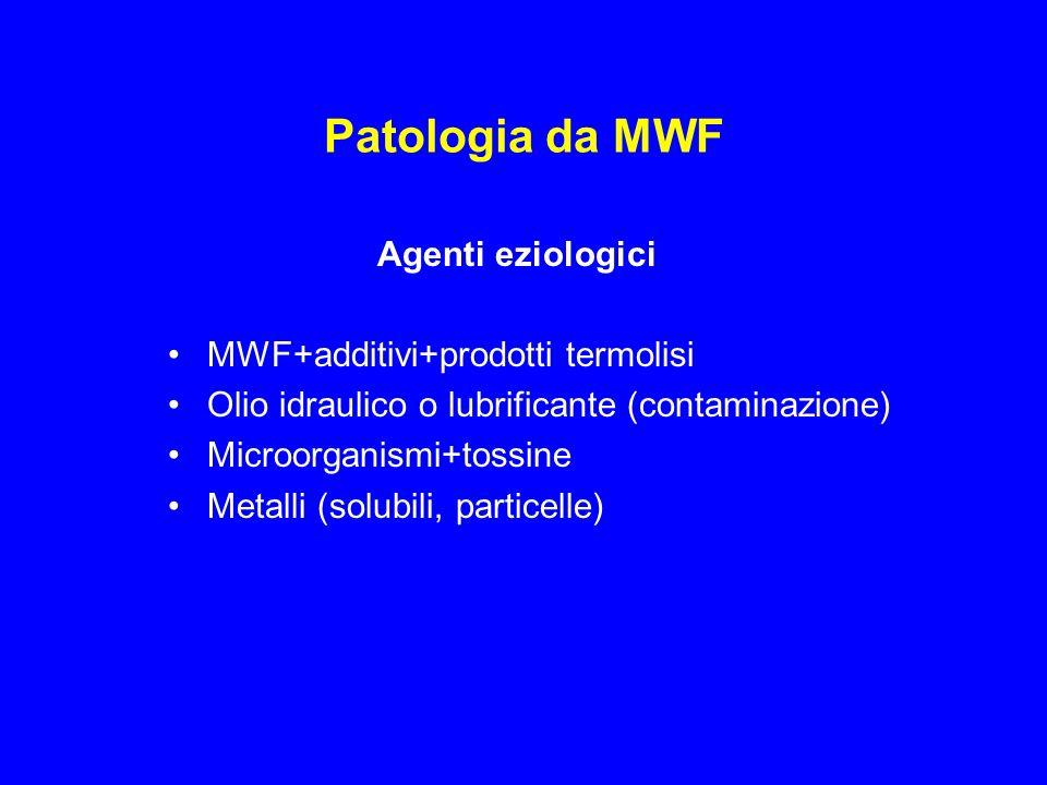 Patologia da MWF [Polmonite lipidica] HP Asma FEV1 post-turno, ODTS Rinite