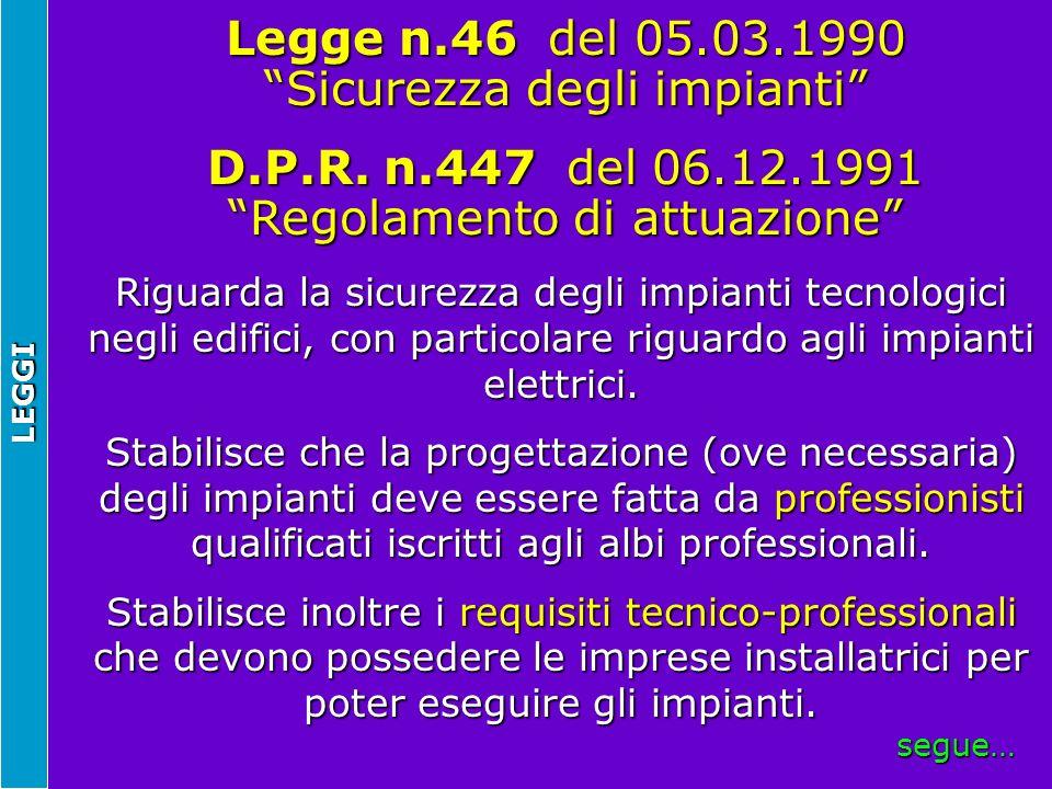 NORME CENELEC - Comitè Européen de Normalisation ELECctrotecnique Il CENELEC emana due tipi di documenti che sono vincolanti per i Paesi membri.