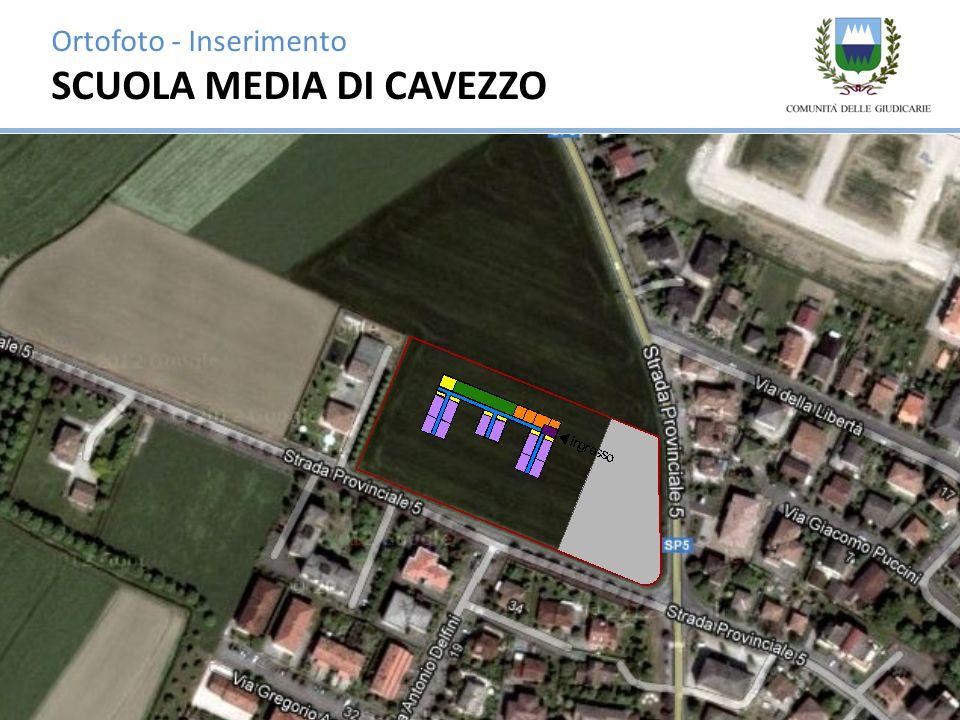 Ortofoto - Inserimento SCUOLA MEDIA DI CAVEZZO
