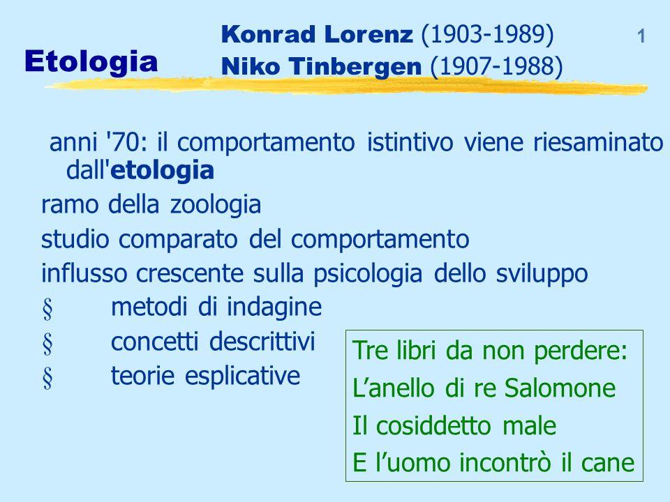 1 Etologia anni '70: il comportamento istintivo viene riesaminato dall'etologia ramo della zoologia studio comparato del comportamento influsso cresce