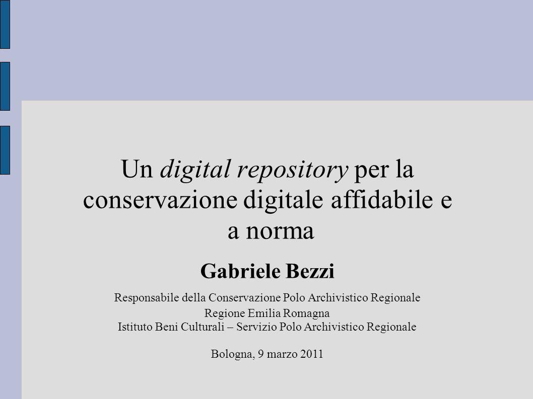 Requisiti fondamentali 8 Garantisce la disseminazione (distribuzione) degli oggetti digitali.