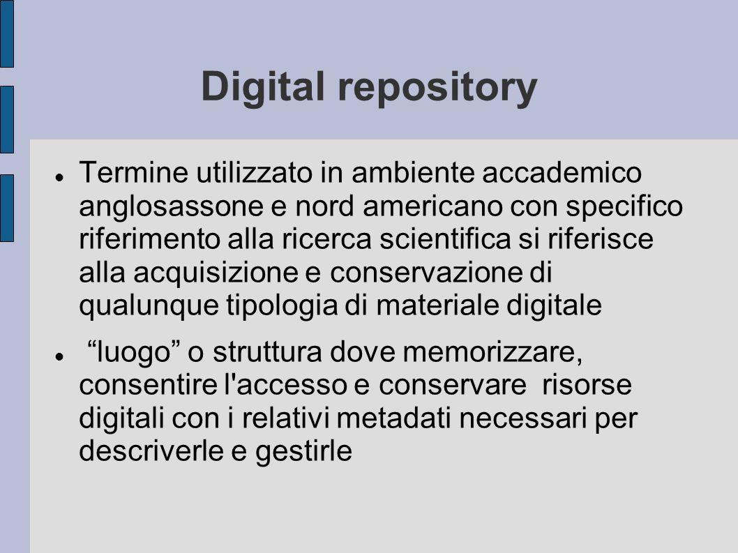 Requisiti fondamentali 1 ll deposito digitale assume la responsabilità della continuità della tenuta e della conservazione nel tempo degli oggetti digitali per la/le comunità designata/e.