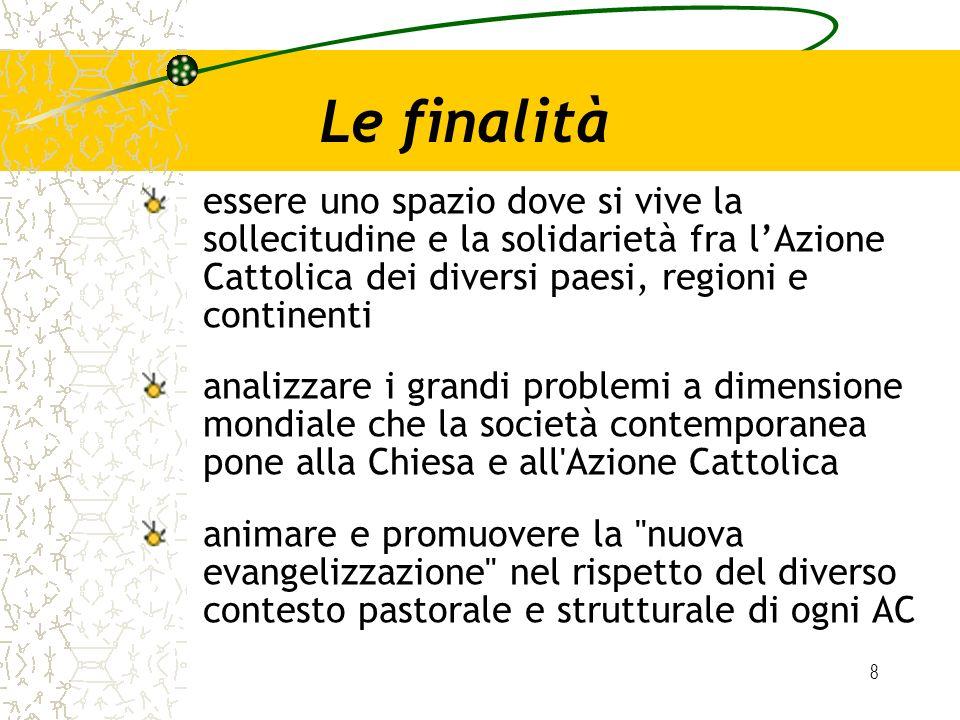 8 Le finalità essere uno spazio dove si vive la sollecitudine e la solidarietà fra lAzione Cattolica dei diversi paesi, regioni e continenti analizzar