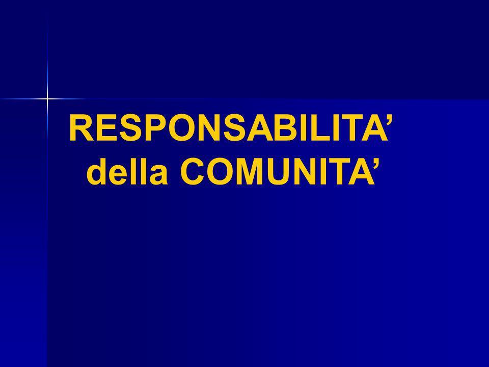 RESPONSABILITA della COMUNITA