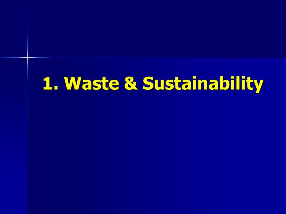 1. Waste & Sustainability 1. Waste & Sustainability