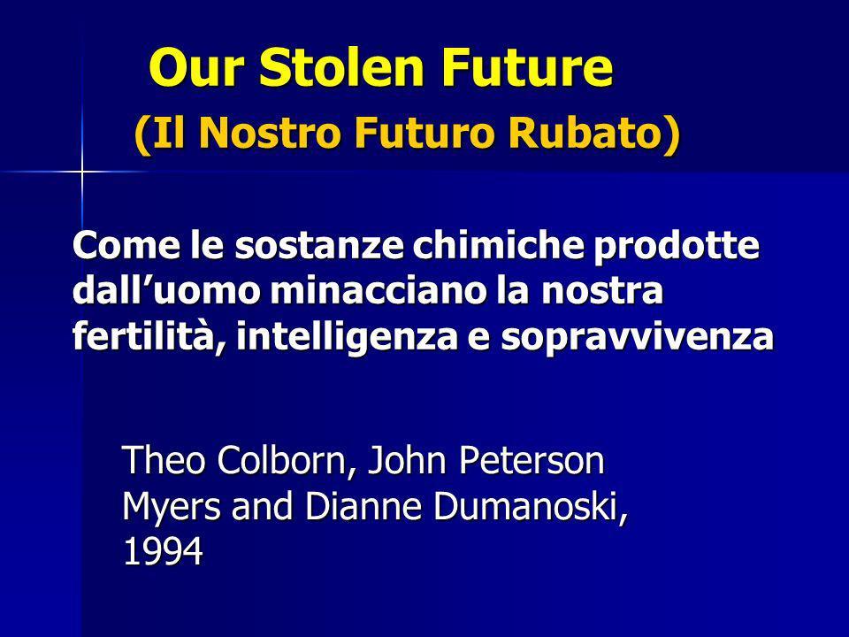 Our Stolen Future (Il Nostro Futuro Rubato) Come le sostanze chimiche prodotte dalluomo minacciano la nostra fertilità, intelligenza e sopravvivenza Our Stolen Future (Il Nostro Futuro Rubato) Come le sostanze chimiche prodotte dalluomo minacciano la nostra fertilità, intelligenza e sopravvivenza Theo Colborn, John Peterson Myers and Dianne Dumanoski, 1994