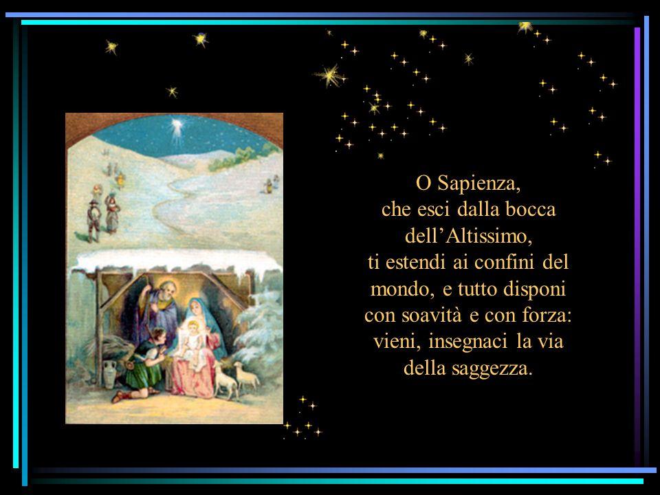 O cieli, stillate rugiada: le nubi piovano il Giusto; si apra la terra e germogli il Salvatore.