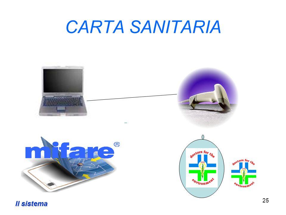 25 CARTA SANITARIA Il sistema