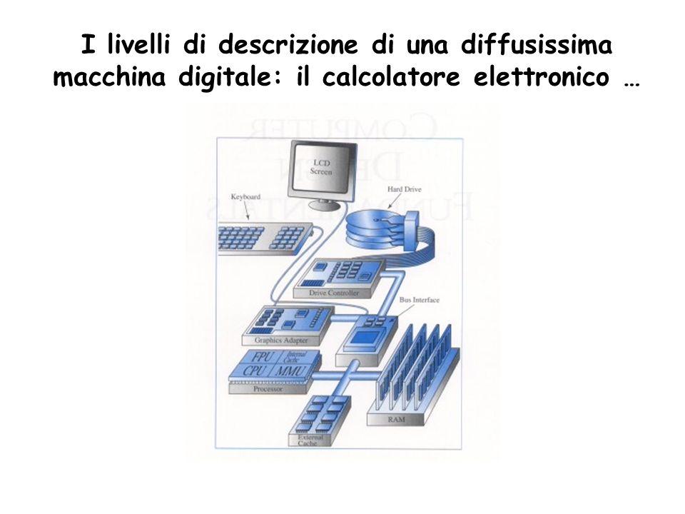 I livelli di descrizione di una diffusissima macchina digitale: il calcolatore elettronico …