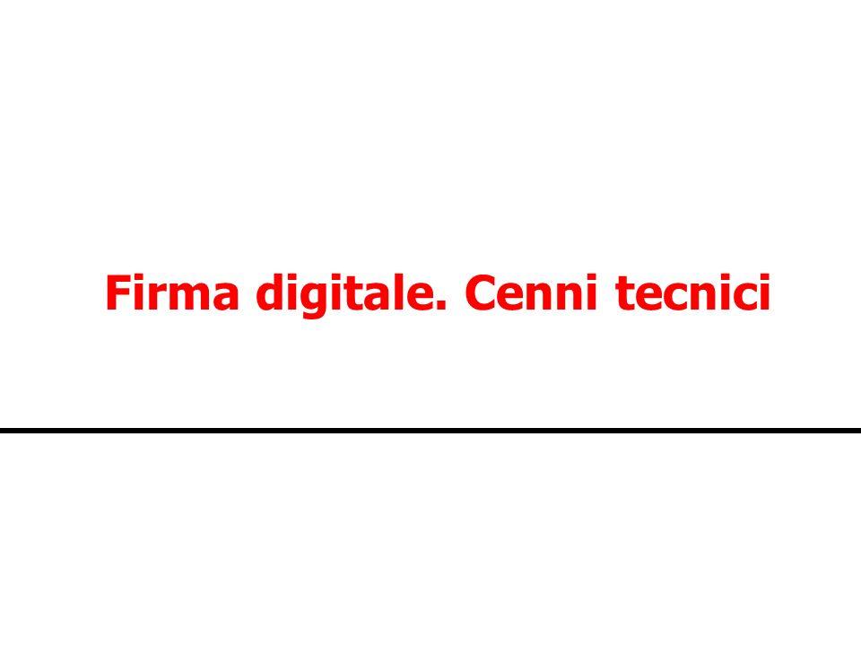 Firma digitale. Cenni tecnici