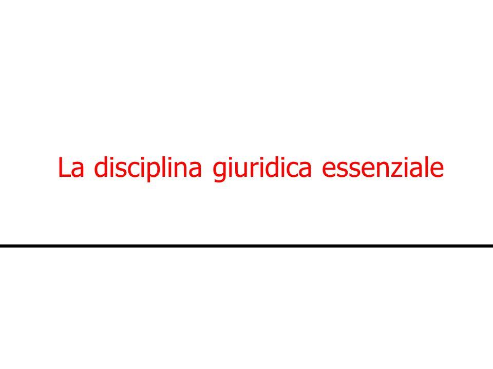 La disciplina giuridica essenziale