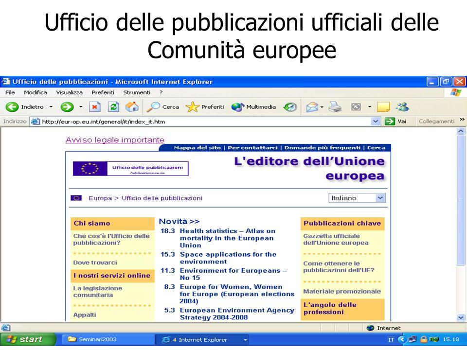 © Palmirani Ufficio delle pubblicazioni ufficiali delle Comunità europee