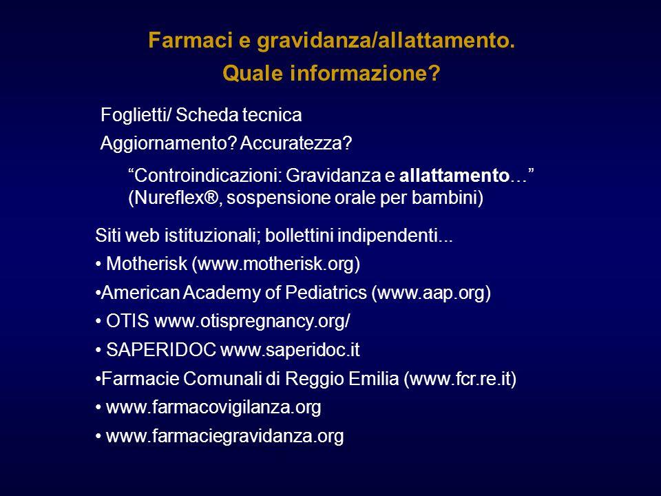 Foglietti/ Scheda tecnica Controindicazioni: Gravidanza e allattamento… (Nureflex®, sospensione orale per bambini) Farmaci e gravidanza/allattamento.