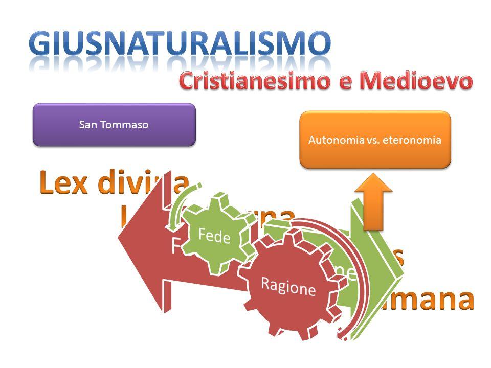 San Tommaso Autonomia vs. eteronomia