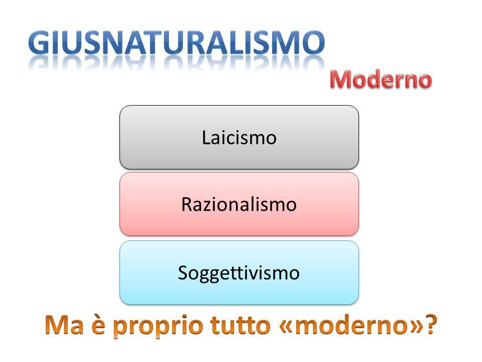 Laicismo Razionalismo Soggettivismo