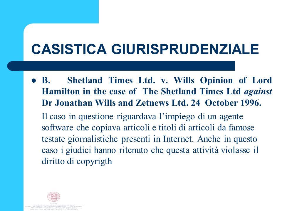 CASISTICA GIURISPRUDENZIALE B. Shetland Times Ltd.