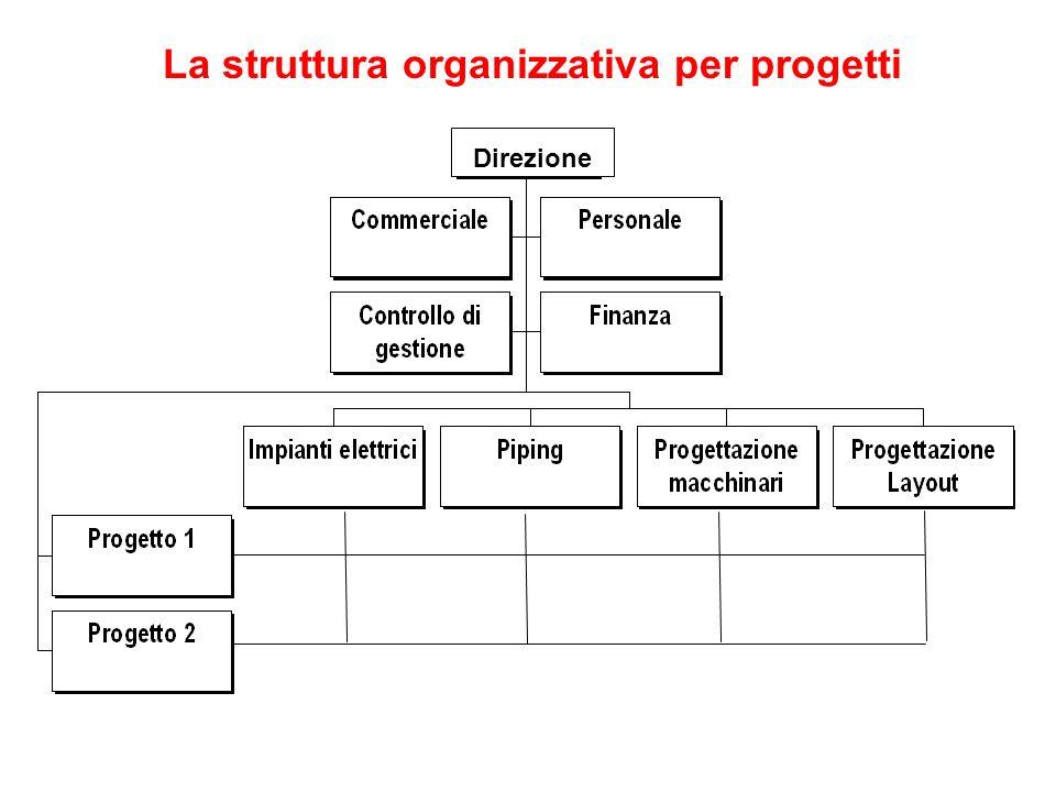La struttura organizzativa per progetti Direzione