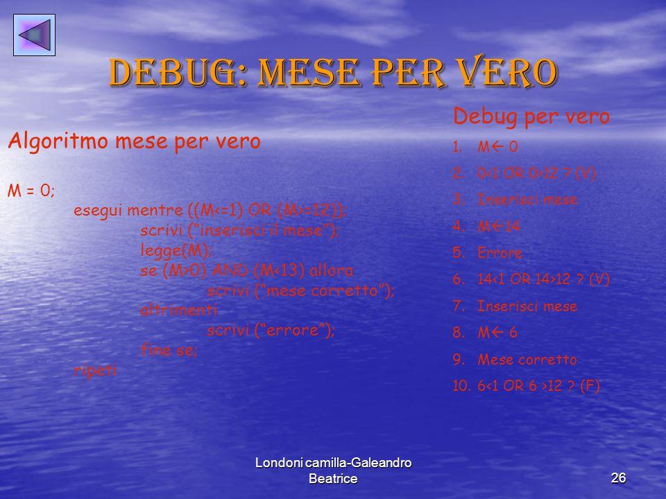Londoni camilla-Galeandro Beatrice26 Debug: mese per vero Debug per vero 1.M 0 2.0 12 .