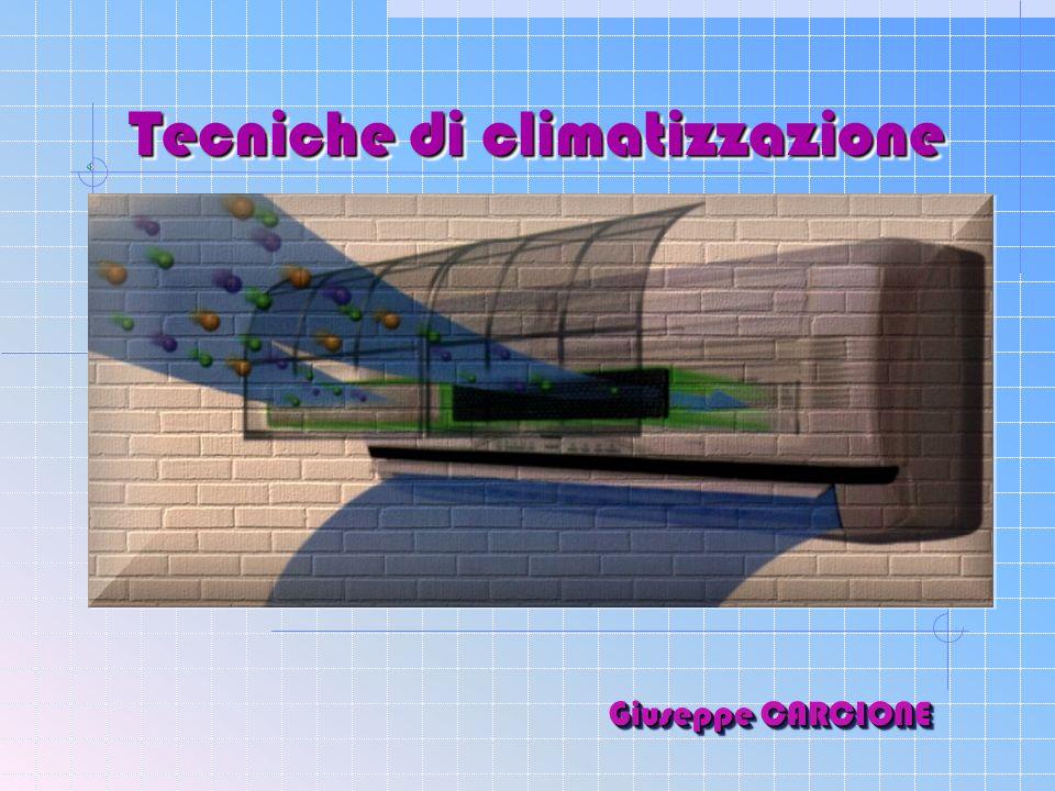 Tecniche di climatizzazione Giuseppe CARCIONE G i u s e p p e C A R C I O N E
