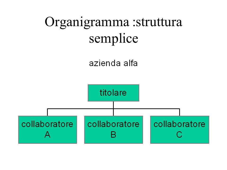 Organigramma :struttura semplice