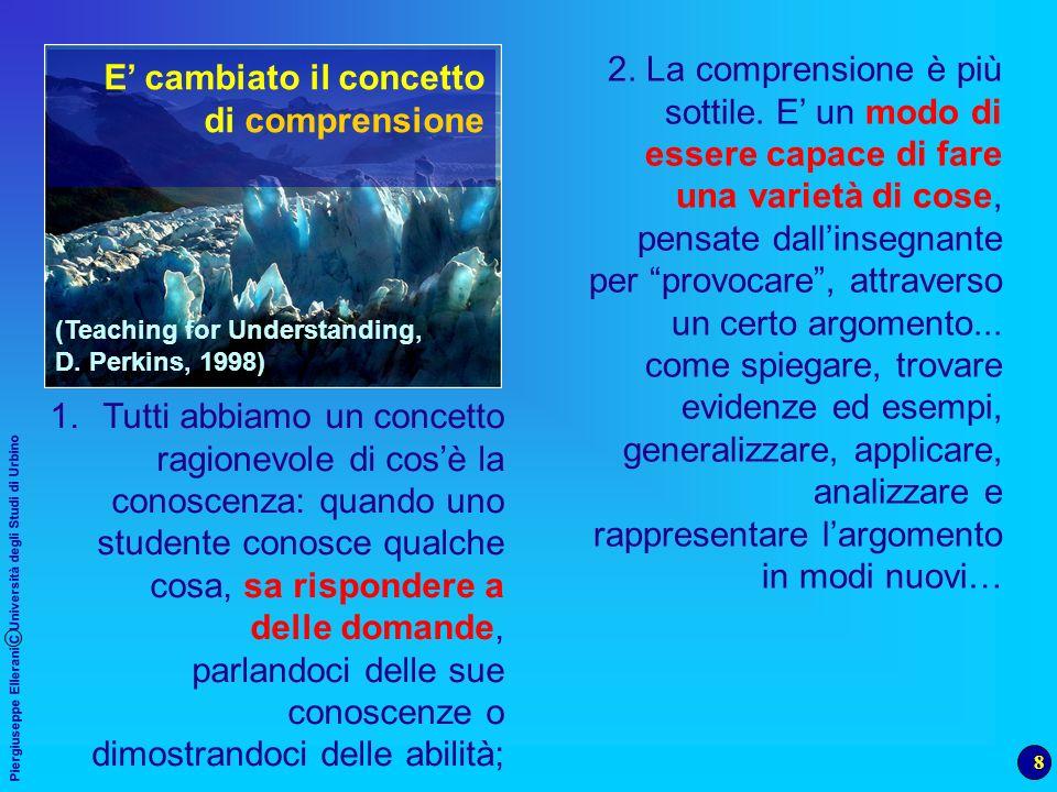 8 Piergiuseppe Ellerani C Università degli Studi di Urbino 2. La comprensione è più sottile. E un modo di essere capace di fare una varietà di cose, p
