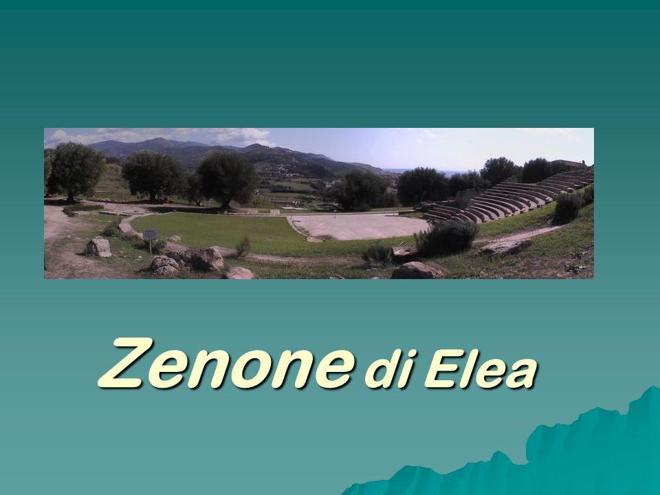 La vita Anche per Zenone l unica immagine che possediamo è quella contenuta nel racconto platonico del Parmenide (127 a), nel quale un quarantenne Zenone, «ben fatto e gradevole a vedersi» accompagna Parmenide ad Atene.
