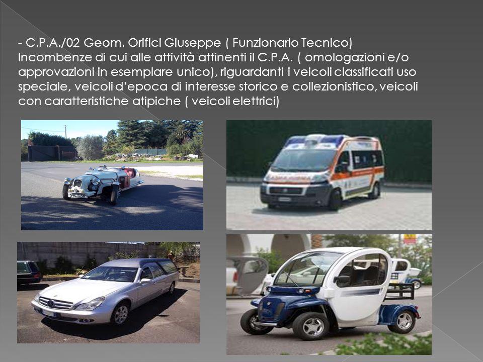 - C.P.A./03 Geom.Emanuele Briguglio Incombenze di cui alle attività attinenti il C.P.A.