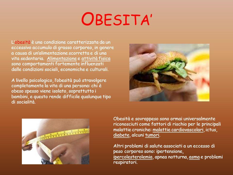O BESITA Lobesità è una condizione caratterizzata da un eccessivo accumulo di grasso corporeo, in genere a causa di unalimentazione scorretta e di una