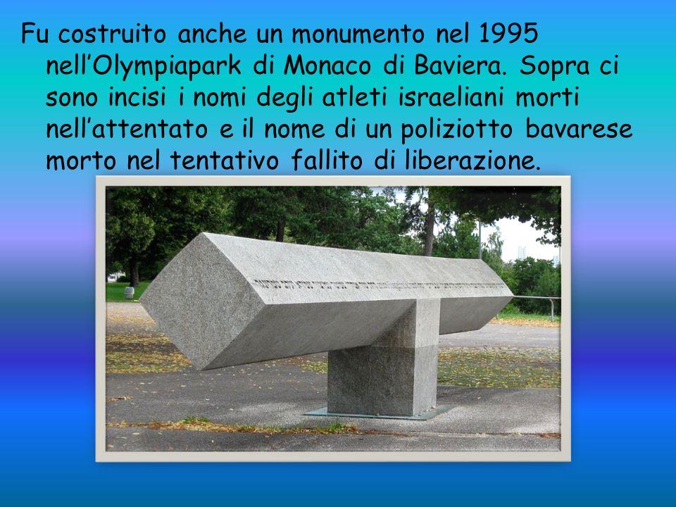 Fu costruito anche un monumento nel 1995 nellOlympiapark di Monaco di Baviera.