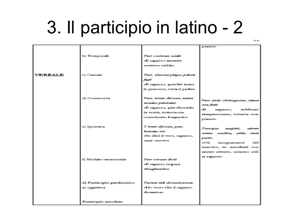 3. Il participio in latino - 2