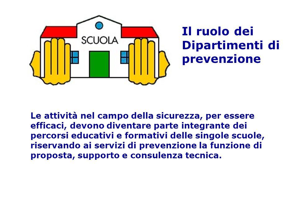Le attività nel campo della sicurezza, per essere efficaci, devono diventare parte integrante dei percorsi educativi e formativi delle singole scuole,