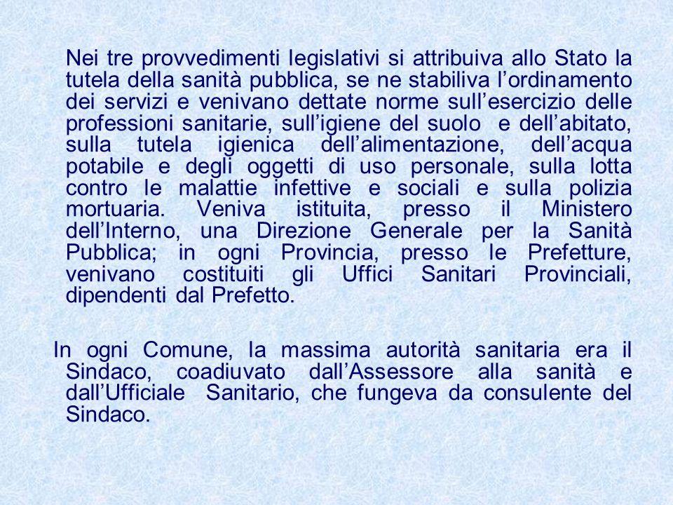 Gli enti mutualistici A partire dagli anni 20, sorsero numerosi gli istituti mutuo- previdenziali (INAM,ENPAS,ENPDEP etc.) ai quali aderirono la gran parte dei cittadini italiani.