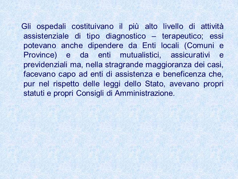 Legge 132/68 : Legge Mariotti Nel 1968, con la cosiddetta riforma ospedaliera, inizia un processo di profonda trasformazione negli ordinamenti ospedalieri, che si può riassumere in: - affermazione del diritto alla tutela della salute ai sensi dellart.