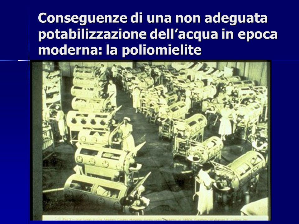 Conseguenze di una non adeguata potabilizzazione dellacqua in epoca moderna: la poliomielite