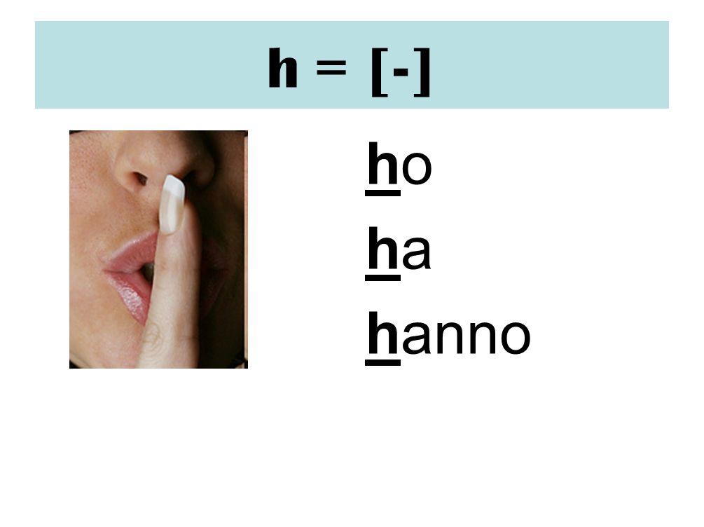 h = [-] ho ha hanno