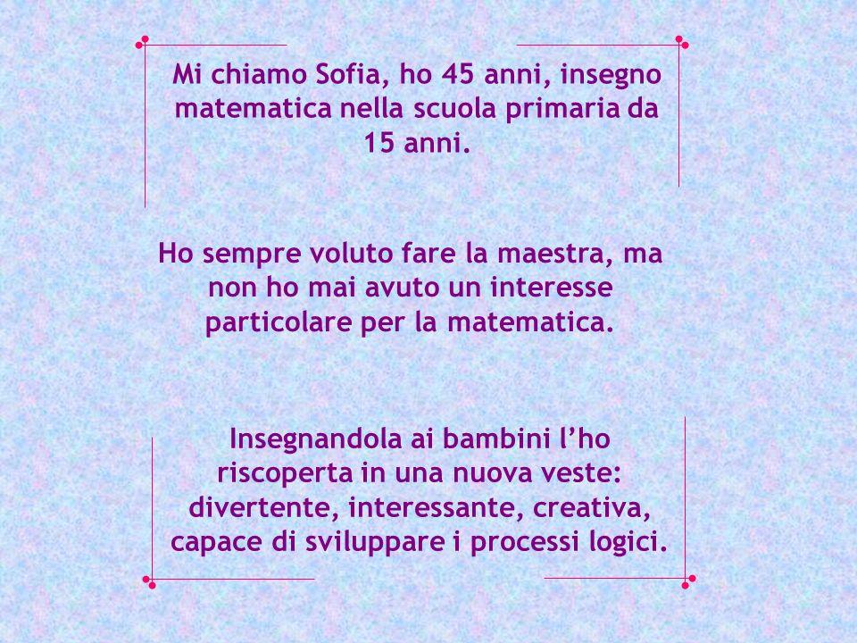 Mi chiamo Sofia, ho 45 anni, insegno matematica nella scuola primaria da 15 anni. Ho sempre voluto fare la maestra, ma non ho mai avuto un interesse p