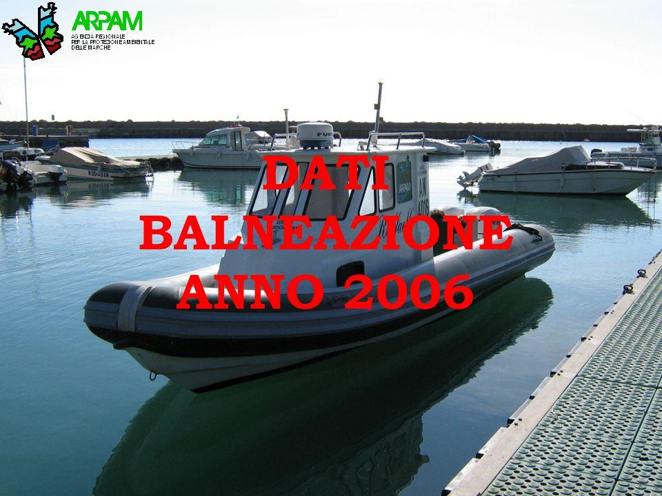 DATI BALNEAZIONE ANNO 2006