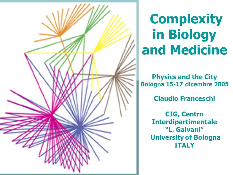 le reti (vie metaboliche, vie di segnalazione intracellulari) più antiche sono le più altamente connesse