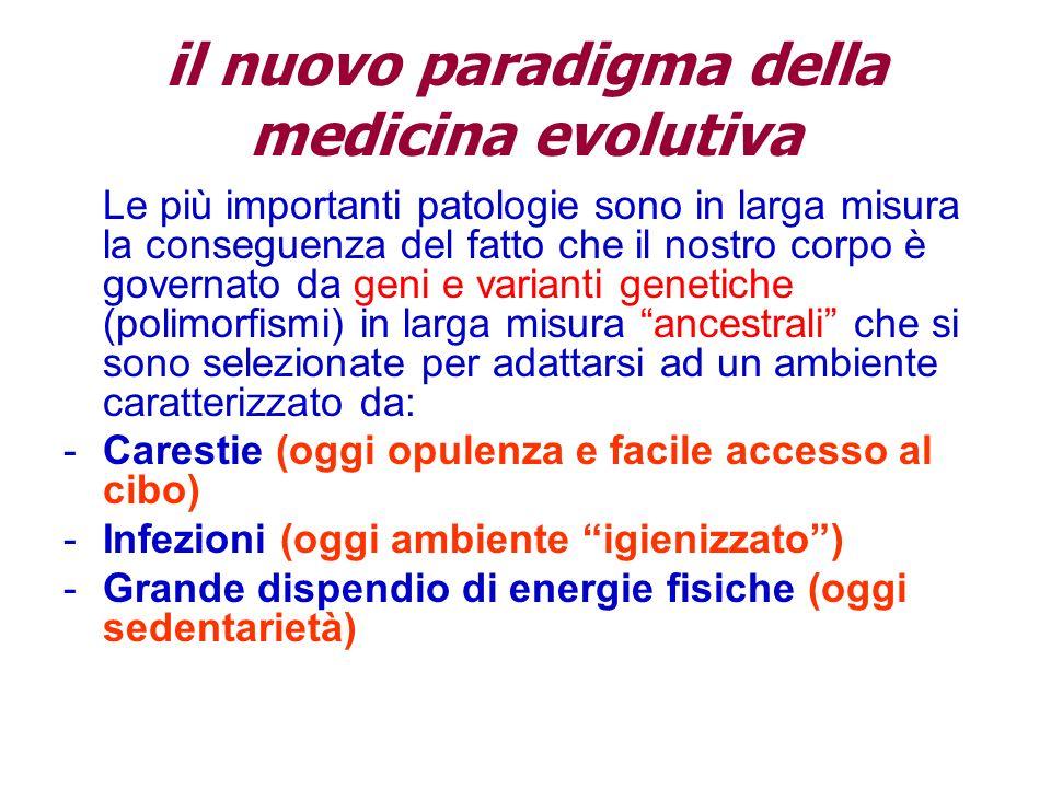 il nuovo paradigma della medicina evolutiva Le più importanti patologie sono in larga misura la conseguenza del fatto che il nostro corpo è governato