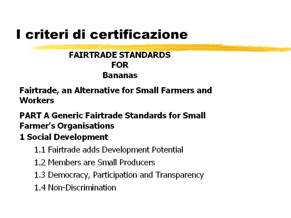 I criteri di certificazione