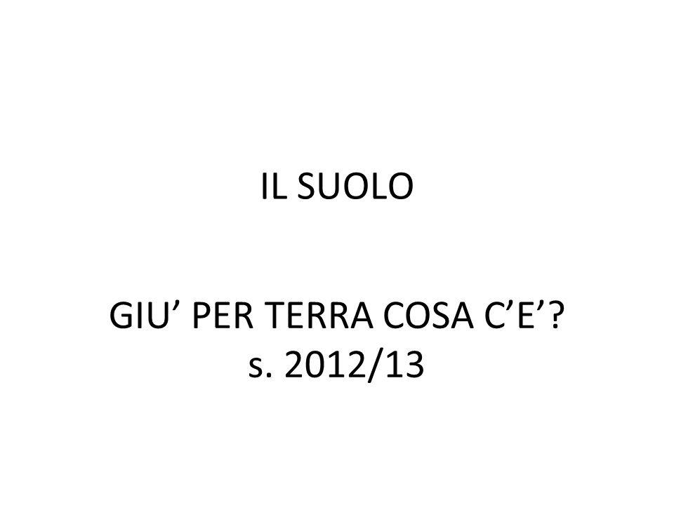 IL SUOLO GIU PER TERRA COSA CE? s. 2012/13
