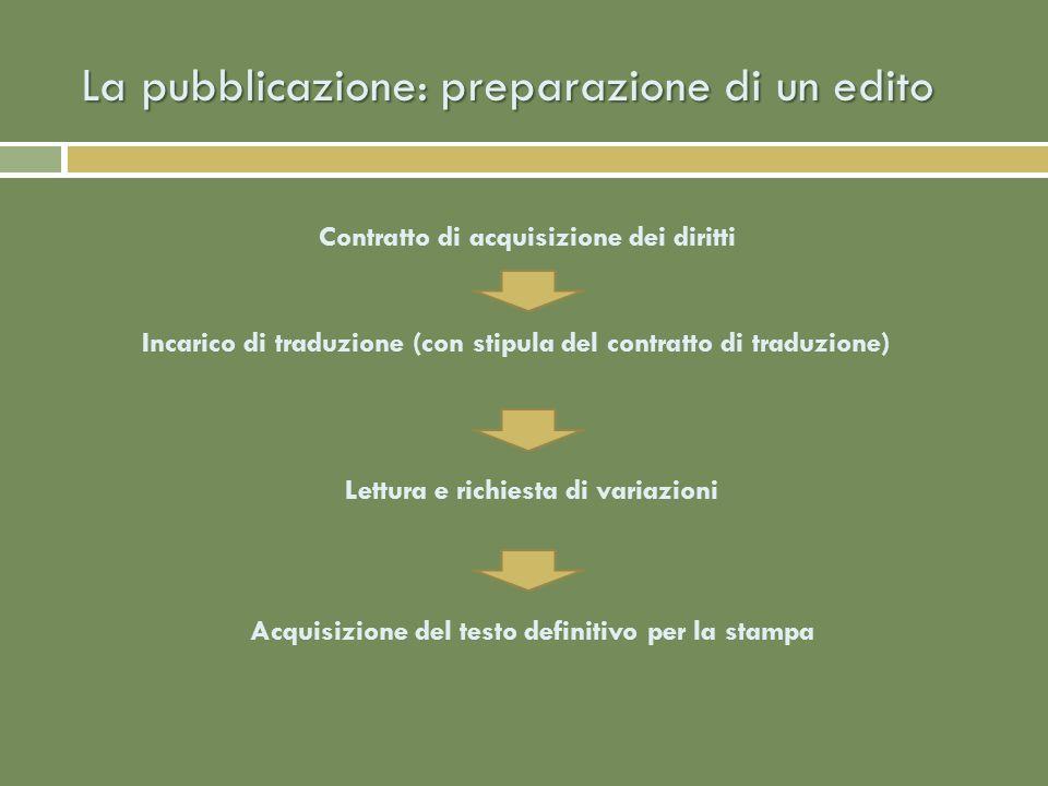 La pubblicazione: la stampa Sulla scorta della collana cui è stato assegnato Graphic design Impaginazione del testo Correzione bozze Invio alla stampa