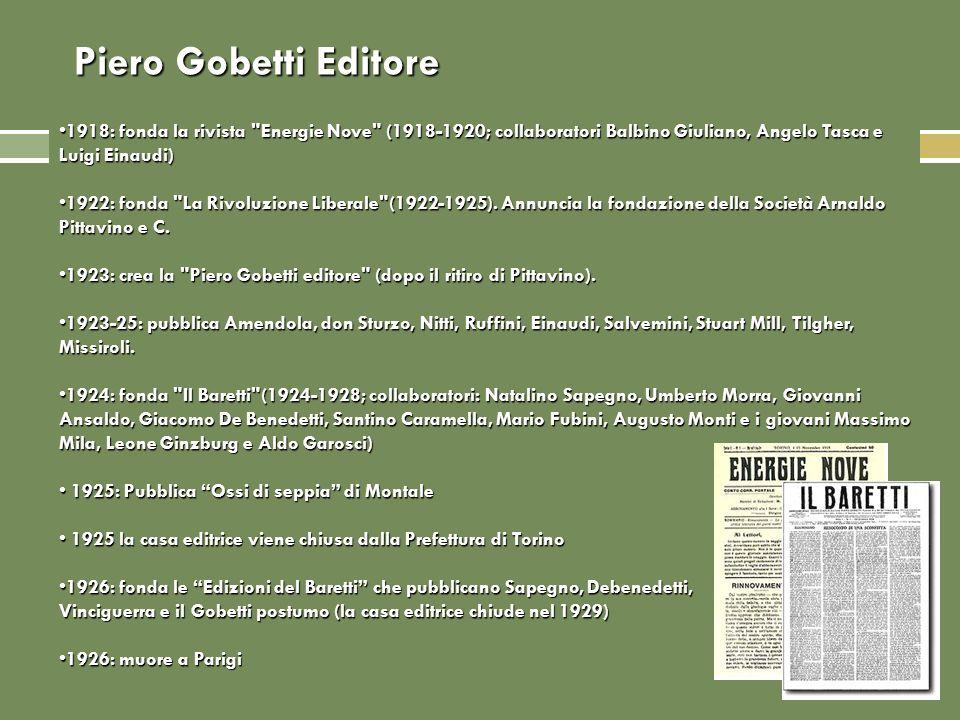 Piero Gobetti Editore 1918: fonda la rivista