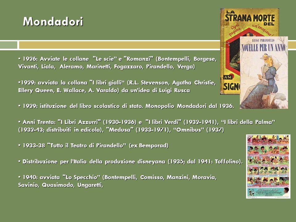 Mondadori 1926: Avviate le collane
