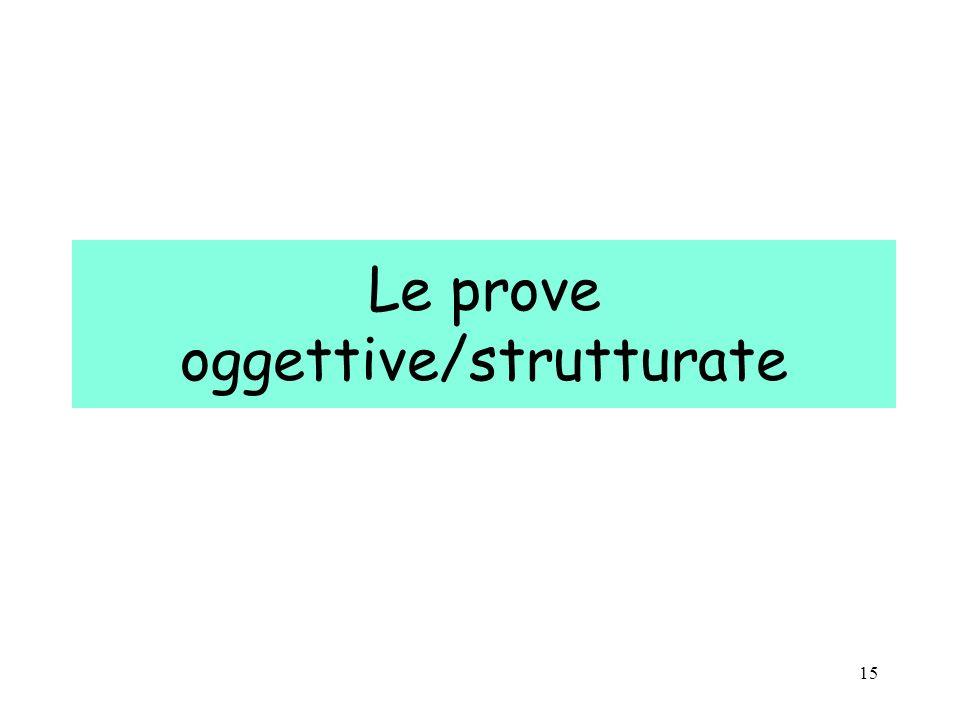 15 Le prove oggettive/strutturate