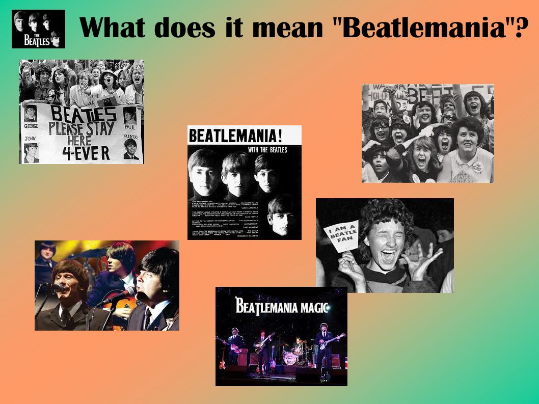 What does it mean Beatlemania ?