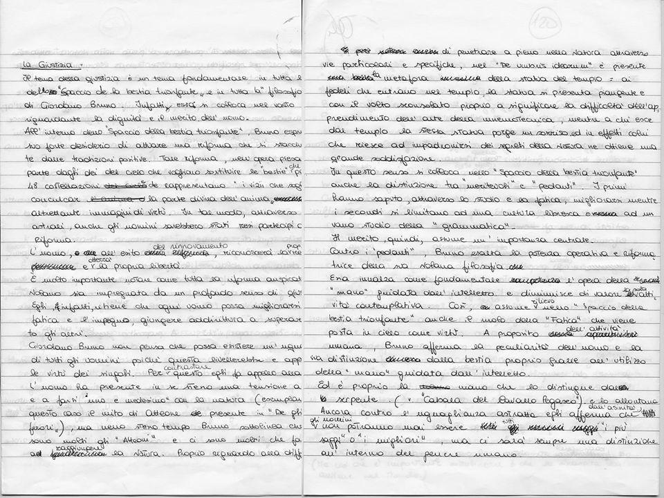 Verso il certamen: lavorare sul testo de Lo Spaccio Traccia: Centrale nello Spaccio de la bestia trionfante è il tema della giustizia.