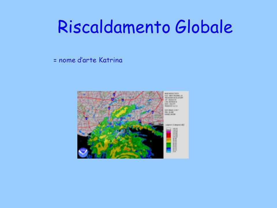 Riscaldamento Globale = nome darte Katrina